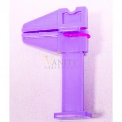 Morsetto plastica viola